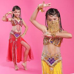 Wholesale Belly Dance Costumes Children - 2015 Girls Belly Dance Professional 6Colors Kids Dance Clothing Children Costume Indian Dance Indian Clothes Belli Dancer DQ2039