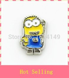 Wholesale Minions Memory - Fashion Jewelry Charms Hot selling minions floating charms living glass floating memory locket charms charm compass
