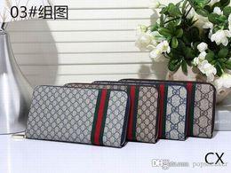 Wholesale cheap leather ladies wallet - Fashion G Wallet Men Women Famous Brand Designer Luxury Long g Purse Ladies PU Leather Zipper Wallets Womens Clutch Cheap Sale