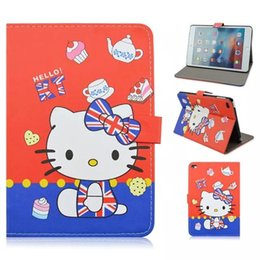 Wholesale China Luxury Bags - Flower Rose Cartoon Hello Kitty KT Cat Dreamcatcher Smart Cover PU Leather Case Stand Pouch Bag For Ipad Mini 4 mini4 7.9 tablet skin Luxury