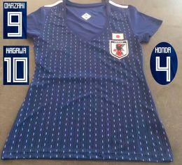 Wholesale s w t - 2018 Japan Soccer Jerseys W Cup 2018 Womens Top Thai Quality Football T Shirts 18 19 KAGAWA OKAZAKI Ladys Football Uniforms Maillot De Foot