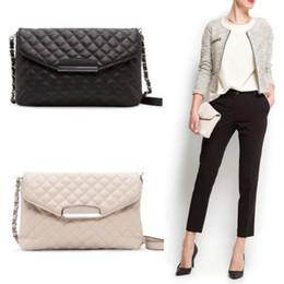 Wholesale Beige Envelope Clutch - Fashion Women Shoulder Bag Leather Clutch Handbag Tote Purse Hobo Messenger Bag