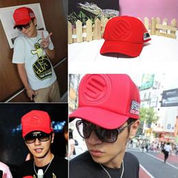 Discount trucker hat style men - Wholesale-Men Women Hot Korean Mesh Trucker  Baseball Cap a6b59d20ec9
