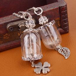 Wholesale Wholesale Blown Glass Pendants - 25 MM Glass Tear Drop Dandelion Real Seed Globe Necklace,Glass Orb Pendant,Hand Blown, Glass Globe, Bridal Jewelry