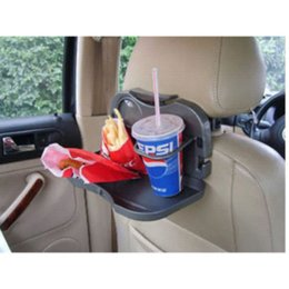 Wholesale Desk Drink Meal - Free Shipping Car Seat Tray mount Food table meal Desk car covers Stand Drink Cup Holder black car stylling