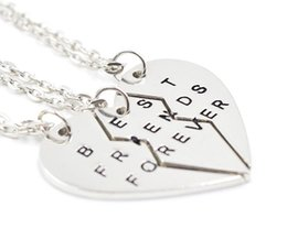 Wholesale Sales Forever - Best Bitches Heart Pendant Necklaces Best Friends Forever Chain Necklace Jewelry 10 Style 2016 Spring Hot Sale