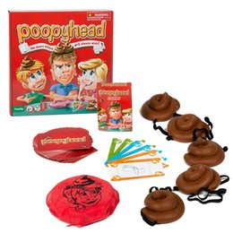 Wholesale New Kids Board Games - New Poopy head Game For Interesting Family Party Funny Poopyhead Board Game Baby Toys Hot Selling