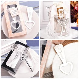 Wholesale Heart Shaped Bottle Openers - Durable Silver Openers Heart Love Angle Crown Shape Wedding Souvenirs Bottle Opener For Party Birthday Supplies 2 5cd B