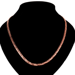 Wholesale Wholesale Solid Gold Jewelry - For Men 6mm Snake Link Chains 18K Gold Rose golden necklaces 20inch solid n827 gift pouches free 2015 New Jewelry