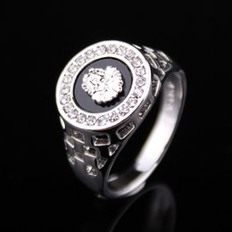 Wholesale Mens 14k White Gold Rings - 2018 brand new high quality CZ Crystal superhero mens rings gold silver color Fast Free Shipping