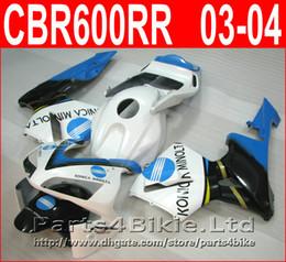 Wholesale Konica Cbr - KONICA MINOLTA white bodykit style for Honda fairings CBR600RR 2003 2006 CBR 600 RR fairing kit CBR 600RR 03 04 VISN