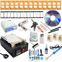 Wholesale Lcd Separator Wire - full set Max 7 inches Mobile phone Built-in Pump Vacuum Metal Body Glass lcd screen separator machine + Cutting Wire order<$18no track