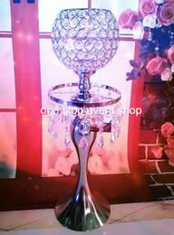 bellissimo altissimo lampadario ondulato 1111 centrotavola fiore stand per la decorazione della tavola di nozze da