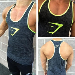 Wholesale Clothes Drop Shipping - 2016 New Arrival Brand Gymshark Muscle Tank Top Gym Men Vest Bodybuilding Clothing 100% cotton Drop shipping