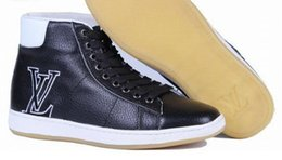 Wholesale Elastic Band Glitter - 2018 new Men flats genuine soft leather casual shoes flat mens leisure lace up shoe Size: EU40-46