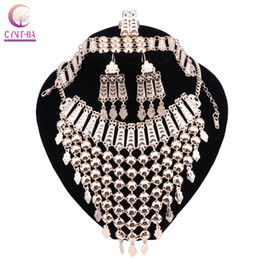 Wholesale Bracelet Customer - Fashion African Beads Jewelry Set Gold Color Wedding Women Bridal Accessories Dubai Necklace Jewelry Set For Wholesale Customer