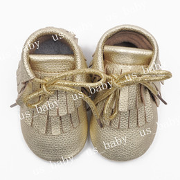 Wholesale Free Baby Booties - UPS Fedex free ship 2016 Baby double tassel leather moccs infant girl boy fringe lace shoes leather prewalker booties toddlers shoes