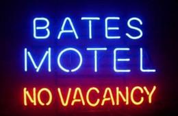 2019 bierzeichen lichter für bars New Bates Motel Keine Vacancy Bier Bar Echtglas Leuchtreklame Licht Display Benutzerdefinierte Handgemachte Leuchtreklamen Licht 17