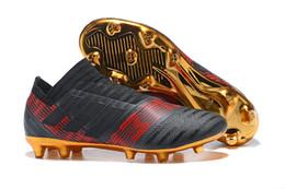 newest 5bf24 e8db9 Fashion Arrival ACC Nemeziz 17+ 360Agility FG Scarpe da calcio Mens  Tacchetti da calcio Outdoor da calcio Stivali da calcio da uomo 39-45 Black  Gold