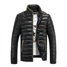 Wholesale Mens Slim Overcoat - New Winter Men Jacket Outdoor Stand Collar Men's OverCoat Male Fashion Warm Wea Slim Fit Windbreaker Mens Outerwear Parkas