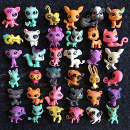 Wholesale Littlest Pet Shop Collection - Q LPS-Littlest Shop Series Pet Doll 20pcs lot Random Littlest Pet Shop Animal Cartoon Cat Dog Action Figures Collection Toys Free DHL
