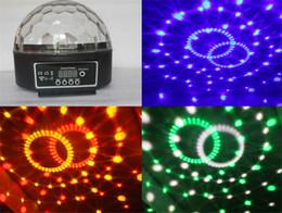Mini scène disco DJ à activation vocale allumant une scène LED allumant une boule de cristal magique RVB 6CH DMX 512 20W KTV Party ? partir de fabricateur