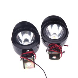 Wholesale Motor Led Lamps - 2Pcs 3W Motorcycle Led Motor Spot Light Lamp Front Headlight Head Lamp Motorbike Led Motor Bulbs K1388