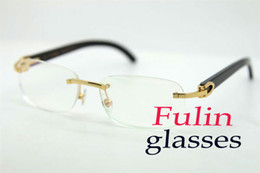 Wholesale New Factory Design - New Factory Sale Fashion Design Black Buffalo Reading Glasses Women Wear With Clear Lens T8100864 Size : 54-18-140mm