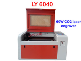 Wholesale Rotary Laser Engraving - Freeshipping 220V 110V LY 6040 CO2 Laser Engraving machine 60W laser CNC router with rotary axis
