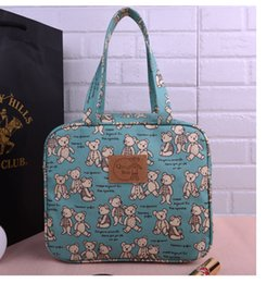 Wholesale Cotton Shoulder Bags - CLASSIC SIZE Cartoon printing waterproof handbag Green shopping bags Student book bag Lunch bag