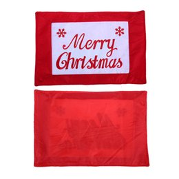 Wholesale Meal Pad - Wholesale- 1pcs 46x30.5cm A lovely Dinner Mat For The Christmas English Meal Pad Party Christmas Placemats For Dining Table