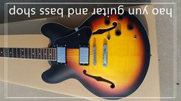 Wholesale Es Sunburst - ES - 335 - semi hollow electric guitar people, sunset yellow Free Shipping