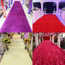 Wholesale Cheap Centerpieces For Parties - Cheap 100 m lot 1.4 m Wide Popular 3D Rose Petal Aisle Runner Carpet For Wedding Centerpieces Favors Party Decoration Supplies