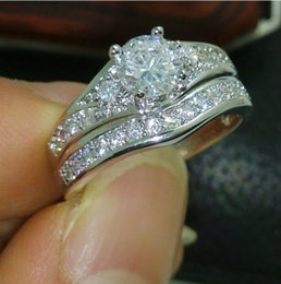 Wholesale Gold Filled Rings Prices - Retro Low Price High Quality Jewelry 10kt white gold filled white Topaz Weeding Ring