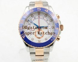 Wholesale Automatic White Dial - Super Original Box Papers Sapphire Wristwatches Yacht AAA Master 44mm Cerachrom WHITE Dial 116681 116681WT Automatic Movement Watch Watches