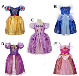 Wholesale 4t Girls Plaid Dress - New baby girls snow white Beauty Princess Dress Aurora Princess Dress Children boutiques Dresses Christmas Dress kids prom tutu skirts