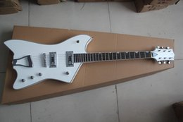 Wholesale Electric Guitar Hollow White - Top Quality two pieces of pick-up jazz electric guitar white large rocker guitar