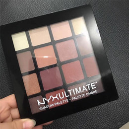 Wholesale Matte Shadows - New NYX Ultimate Eye shadow Palette NYXUltimate Shadow Palette Palette 16 Colors nude Matte Eyeshadow DHL Free ..