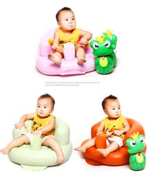 Wholesale Inflatable Toddler Bath - Baby Sofa Kids Chair Inflatable Children's Chair Baby Sofa Inflatable For Kids Toddlers Learn stool Chair Training Bath Seat Baby Room Deco