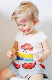 Wholesale Soft Girl Prints T Shirt - The Latest Summer Children Korean Modal Solid Short Sleeve Printed T-shirt Kids Boys Girls Fashion Soft Causal T-Shirt Candy Colors N0451