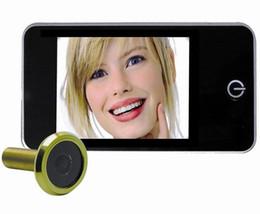 "Wholesale Security Camera Peepholes - Door Viewer Peephole 3.2""Digital Door Peephole Viewer Wide Angle Security Digital Camera Automatic Energy saving mode Free Shipping"