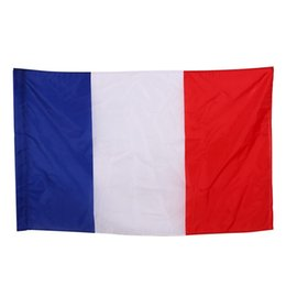 Wholesale France Flag Polyester - 90*150cm France National Flag Office Activity Parade Holiday Festival Decoration 3*5ft Banner For High Quality 5qt C R