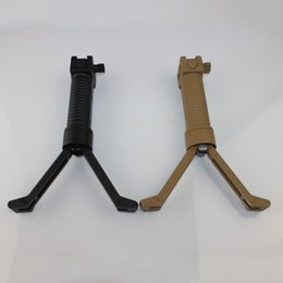 Wholesale Rifle Pod - Wholesale-Tactical bipod grip pistol Foregrip Tactical RIS Rifle Carbine Bipod Front Foregrip Handgrip Bi-pod Rail Mount 20mm Free shipping