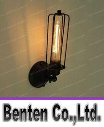 Illuminazione gabbia in stile industriale online-110-220 v Loft Americano stile country in ferro industriale Retro gabbie piccole Lampade da parete Vintage Industrial Lighting LLFA1084