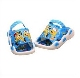 Wholesale Sound Shoes - Wholesale-2015 new style children's summer sandals shoes kid's sandals boys girls unsex cartoon sandals slippers sound