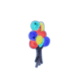 Wholesale Sequins Embroidery For Kids - 10PCS Balloon Sequined Patches for Clothing Iron on Transfer Applique Kids Patch for Jeans Bags DIY Sew on Embroidery Sequins