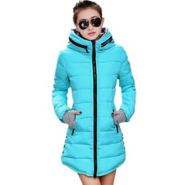 Wholesale Womens Plus Size Down Jackets - Wholesale-Women's cotton-padded Jacket 2016 Winter Jacket Women Long Down Cotton Plus Size Jacket Womens winter jackets and coats TD2