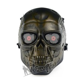 Wholesale Metal Skulls For Sale - Hot Sale Skull Masks Skeleton Airsoft Paintball Terminator Wargame CS Full Face Protective Mask,Free shipping