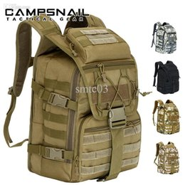 Wholesale Brown System - Wholesale-Outdoor 35L life saver backpacks Tactical Molle System camouflage backpack SWAT Police Carry Survival gear backpack