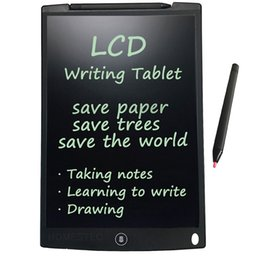 Wholesale Designer Pens - 12 Inch LED Writing Tablet Christmas Gift Kids Children Designer Teacher Drawing Digital Handwriting Pad Epaper With Stylus Pen Retail Box